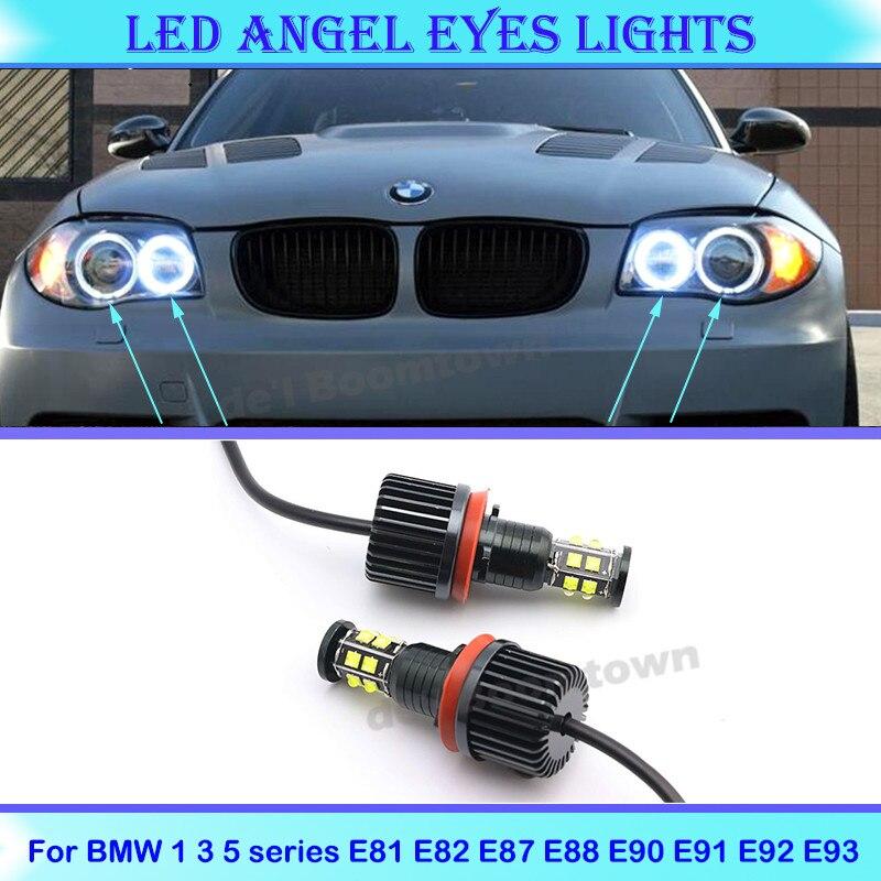 120W светодиодный автомобиль гало кольца Ангельские глазки лампы пульт дистанционного управления для BMW 1 3 5 X серии Z E60 E70 X5 E71 X6 X6M E89 E81 E82 E87 E88 E90 ...