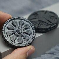 De Metal Pop moneda PPB guerra Spinner para usarlos con la punta del dedo anillo marea jugar EDC magnético dedo estrés bolsillo juguetes regalos