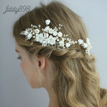 2019 Newest Flower Wedding Bride HairPins Hair Comb Prom Bridal Accessories Women Handmade Headwear