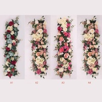 Free Shipping 1M Luxury Artificial Flower Row Arrangement Decoration for Party Wedding Arch Backdrop Road Cited Flower