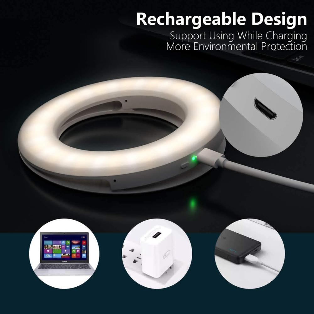 lowest price Selfie Light Ring Lights Led Circle Mini Light Clamp for Phones Rechargeable Clip-on Makeup Fill Light Laptop Camera  Video