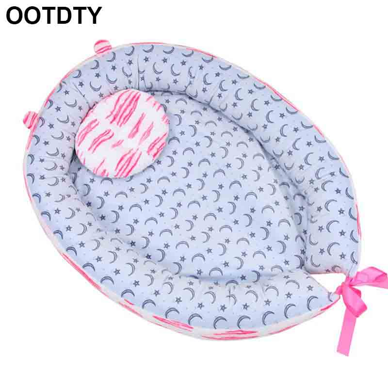 New Cute Baby Nest Bed Crib Portable Removable And Washable Crib Travel Bed For Children Infant Kids Cotton Cradle