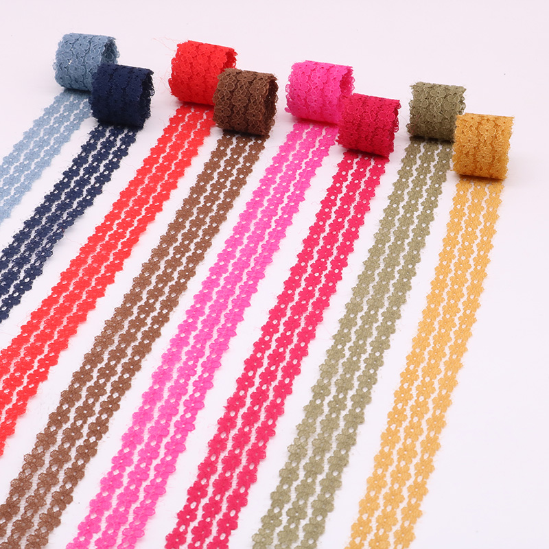 14 mm wide Crocheted Lace Elastic  Handcraft Trim Assorted colours  1 Yard