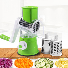 Vegetable Cutter Round Mandoline Potato Carrot Grater Slicer 3 Stainless Steel Multifunction Chopper Blades kitchen accessories