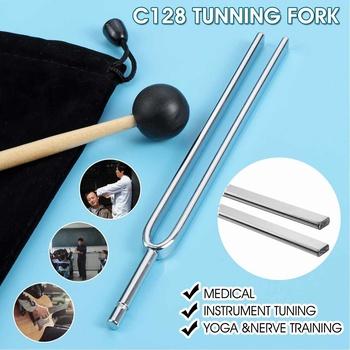 Aluminum Medical Tuning Fork C128 Steel Medical Tuning Set Yoga amp Nerve Training Musical Instrument Tuning Fork Music Props tanie i dobre opinie becornce Obróbka metali