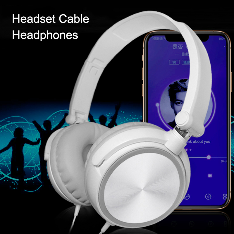Wired Computer Headset With Microphone Heavy Bass Game Karaoke Voice Headset NK-Shopping
