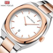MINI FOCUS Mens Watches Top Brand Luxury Fashion Simple Wrist Watch Men Waterproof Golden Stainless Steel Watch Wrist Calendar