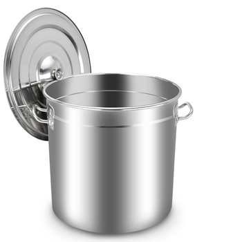 Energy-saving soup barrel stainless steel with lid thickened large capacity soup pot brine barrel composite bottom barrel