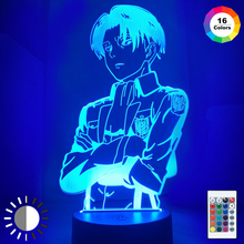 Attack on Titan for Home Room Decor Light Acrylic Table Lamp Anime Cool Kid Child Gift Captain Levi Ackerman Figure Night Light