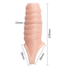 Reusable Penis Extender Rings Thick Thread Cock Sleeve Male Spike Dick Enlargement Silicone Delay Condoms Adult Sex Toys For Men