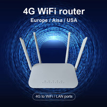 LTE CPE 4G wifi router SIM card Hotspot CAT4 32 users RJ45 WAN LAN wireless modem