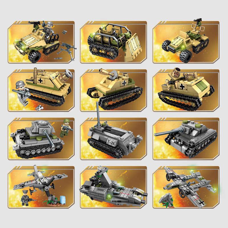 1061 pièces militaire technique fer Empire réservoir LegoINGs blocs de construction ensembles arme guerre Chariot créateur armée WW2 soldats briques jouets