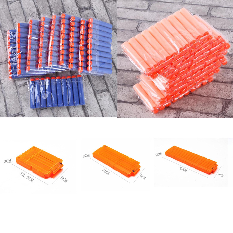 Gun Soft Bullet Clip 6-18 Orange Reload Clip For Nerf Magazine Round Darts Replacement Toy For Nerf Blaster Gun Luminous Bullet
