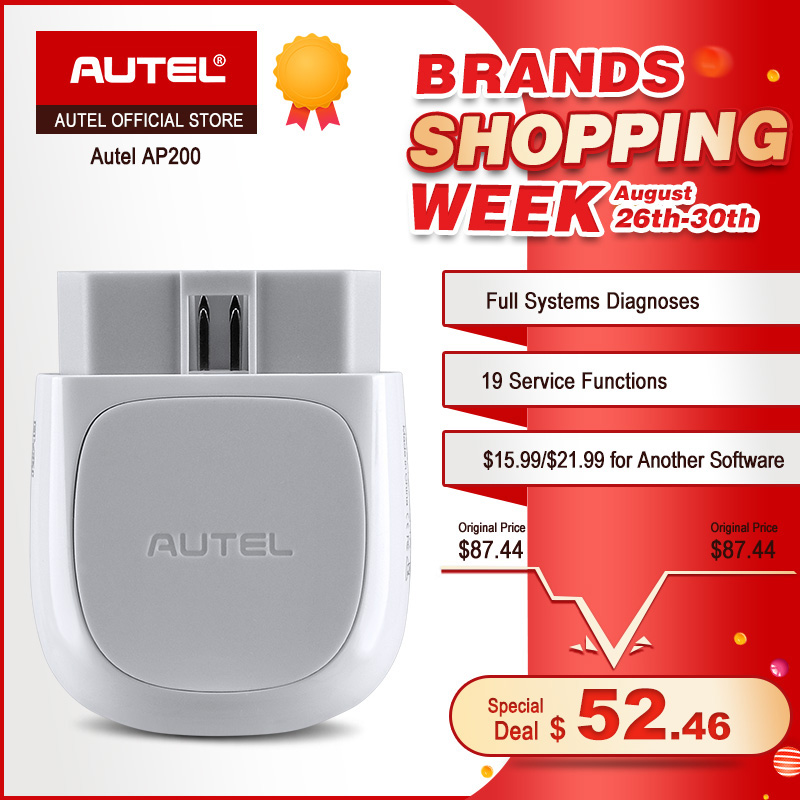 Autel AP200 Bluetooth OBD2 Scanner Code Reader with Full Systems Diagnoses AutoVIN TPMS IMMO Service for Family DIYers PK MX808 air max 95 white just do