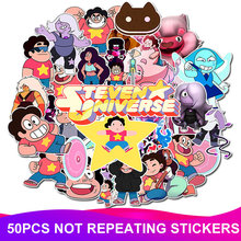 50pcs/Pack Cute Cartoon Steven Universe Stickers Waterproof Skateboard Suitcase Phone Laptop Funny Stickers Kids Classic Toys цена 2017