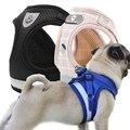 Шлейка для собак, воздухопроницаемая Светоотражающая жилетка с принтом французского бульдога, маленьких и больших щенков