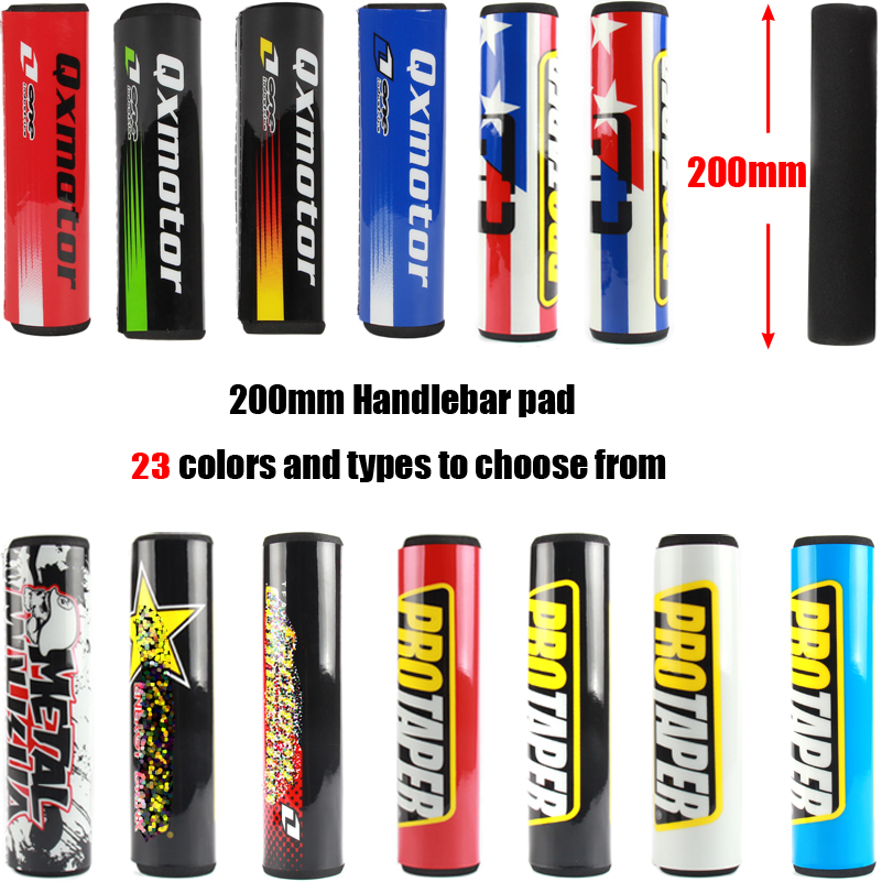 200mm Round Handlebar Bar Pad 7/8 Bike Motorcycle Cross Chest Protector Grips For CRF YZF KTM RMZ Dirt Bike ATV Quad