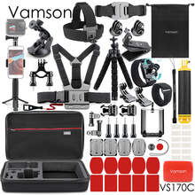 Vamson مجموعة ملحقات الكاميرا الرياضية العامة لـ Gopro9 ، 3 أنواع من ثلاثي القوائم ، لـ Go Pro Hero 9 8 7 6 5 4 لـ Eken h8r VS170