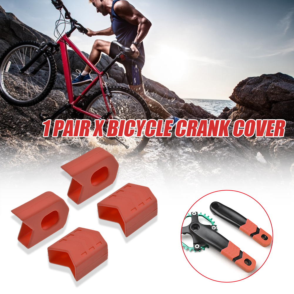 4PCS Bicycle Crank Protector Sleeve Arm Boots Mountain Bike Accs Silicone Case