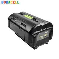 Bonacell 6000mAh for Ryobi OP4050 Replacement Li ion Battery 40V RY40200 RY40403 RY4050 Cordless String Trimmer Batteries