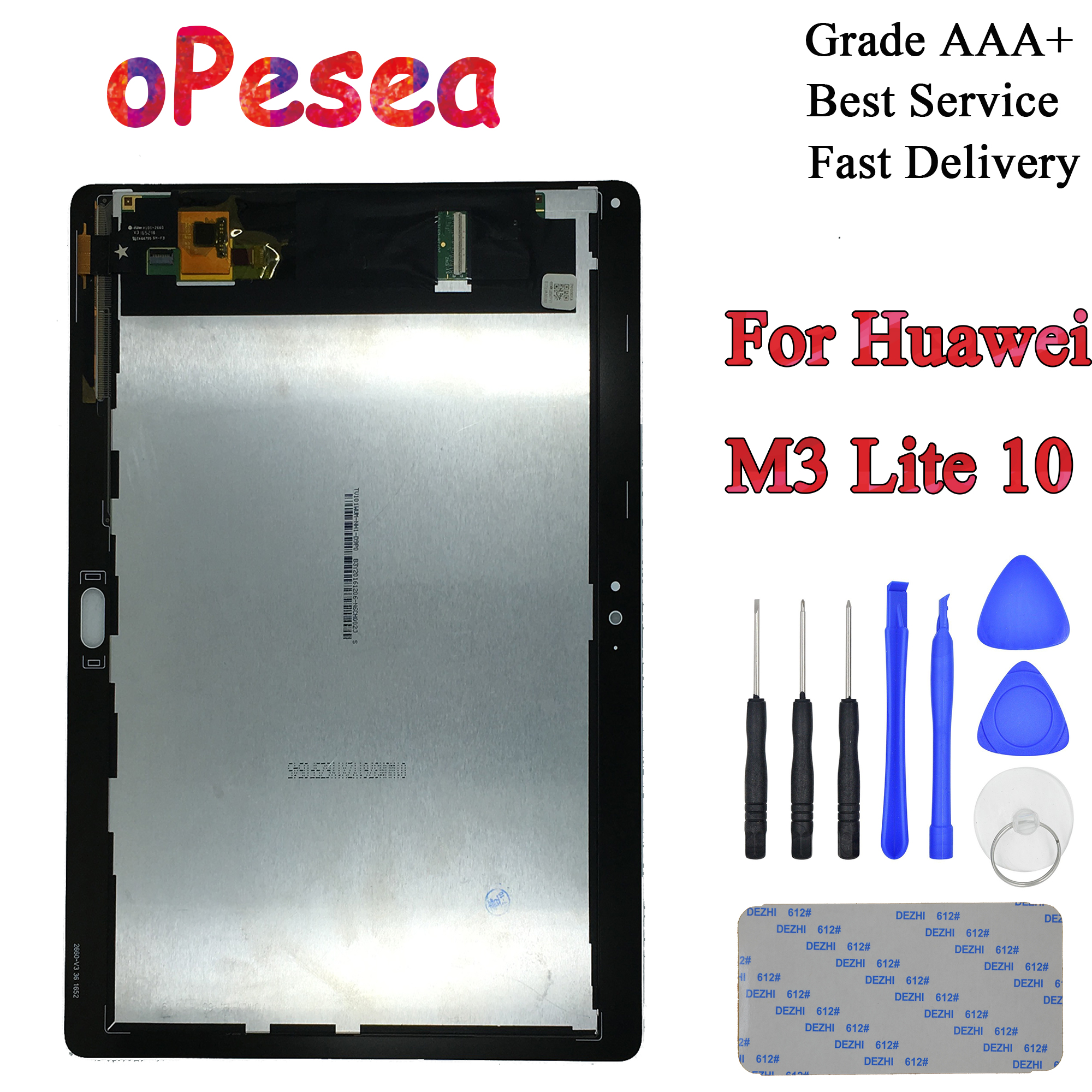 OPesea 10.1'' For Huawei Mediapad M3 Lite 10 BAH-AL00 BAH-W09 BAH-L09 LCD Display Panel Touch Screen Digitizer Glass Assembly