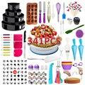 Ferramentas de bolo de 341 peças conjunto de decoração do bico de bolo decoração de cozinha diy piping cream reutilizável kit ferramenta de cozimento