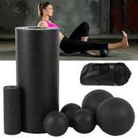 5pcs Yoga Foam Roller Ball Set Pilates Block Gym Sports Men Fitness  Massage Ball for Therapy Relax Exercise Relax