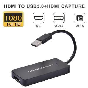 Карта видеозахвата 1080P 60fps Hdmi, USB 3,0 HDMI, коробка для видеозаписи для PS4, игр, DVD, видеокамеры HD, записи в реальном времени