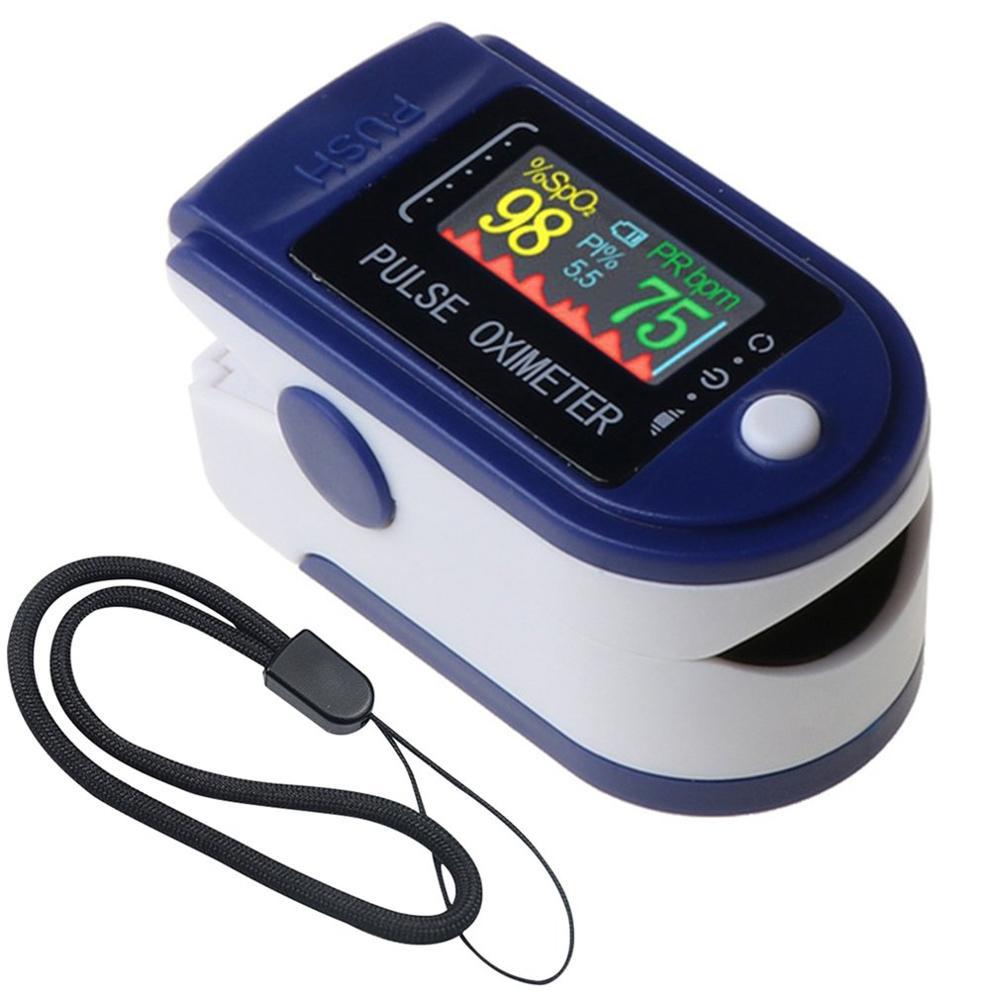 Пульсоксиметр Пальчиковый медицинский портативный с OLED-экраном для измерения пульса и давления