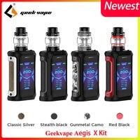 Electronic cigarette Vape Geekvape Aegis X Kit 200w box mod 5.5ml Cerberus tank waterproof vapor E cigarette Kit vs Voopoo Drag