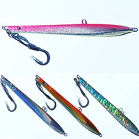 4pcs 150g\/200g\/250g lead fish lead jig knife jig Mixed 4 colors with seperate package super strong fishing hook