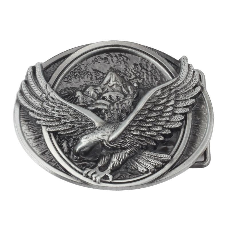 Eagle/Vulture  Pattern Belt Buckle Handmade homemade belt accessories waistband DIY Western cowboy rock style k43