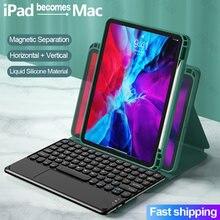 For iPad 10.2 2019 2020 7th 8th IPAD Air 3 4 10.9 Pro 10.5 11 2021 Liquid Silicone Magic Keyboard Case For iPad 9.7 5 6th Cover