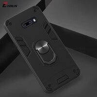 Funda de teléfono con soporte de anillo magnético, armadura a prueba de golpes para LG G8X V60 V50S ThinQ 5G