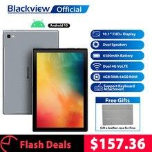 BLACKVIEW – Tab 8, 10,1 pouces Android 10.0, tablette pour appels téléphoniques, Google Play, appel 4 G, RAM 4 go, ROM 64 go, 13,0 MP, caméra arrière 6580 mAh, PC
