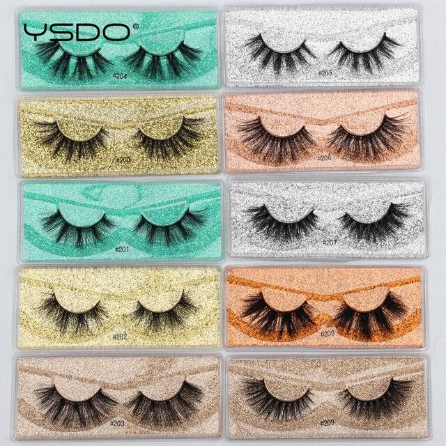 YSDO Mink Lashes Wholesale 5/10/20/100 Pairs 3D Mink Eyelashes Faux Cils Makeup Dramatic False Eyelashes In Bulk Natural Lashes 5