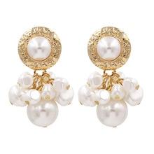 New Style Pearl Earrings Cool Star Street Shooting Ear Stud Short
