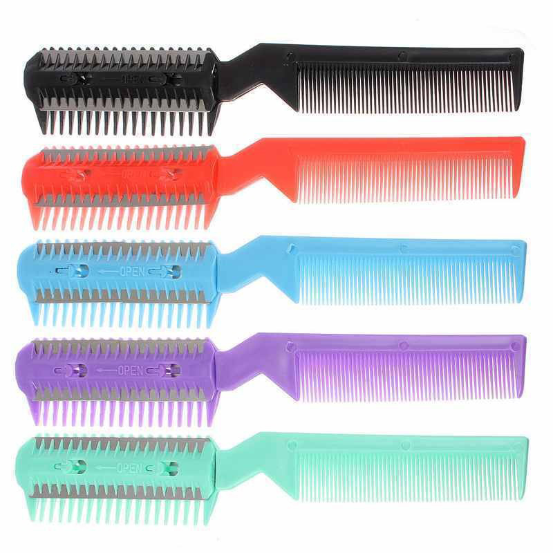 Haircut Comb Professional Scissor DIY Hair Razor Comb Hairdressing Thinning Shortening Trimmer Bangs Hairdressing Tools