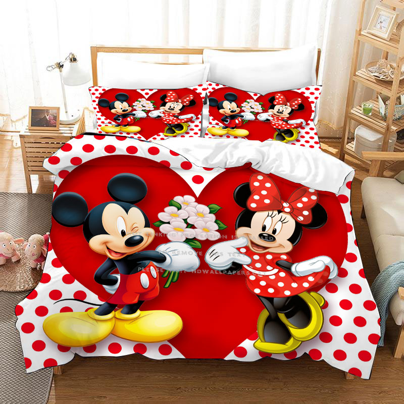 Bedding Set Minnie Mouse Twin Size Duvet Covers For Girls Bedroom Decoration Queen 3 Pcs Birthday Presents Home Textile Hot Sale Bedding Sets Aliexpress