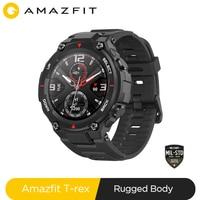 Neue 2020 CES Amazfit T rex T-rex Smartwatch Contrl Musik 5ATM Smart Uhr GPS/GLONASS 20 tage battry leben MIL-STD für Xiaomi iOS