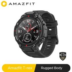 New 2020 CES Amazfit T rex T-rex Smartwatch Contrl Music 5ATM Smart Watch GPS/GLONASS 20days battry life MIL-STD for Xiaomi iOS