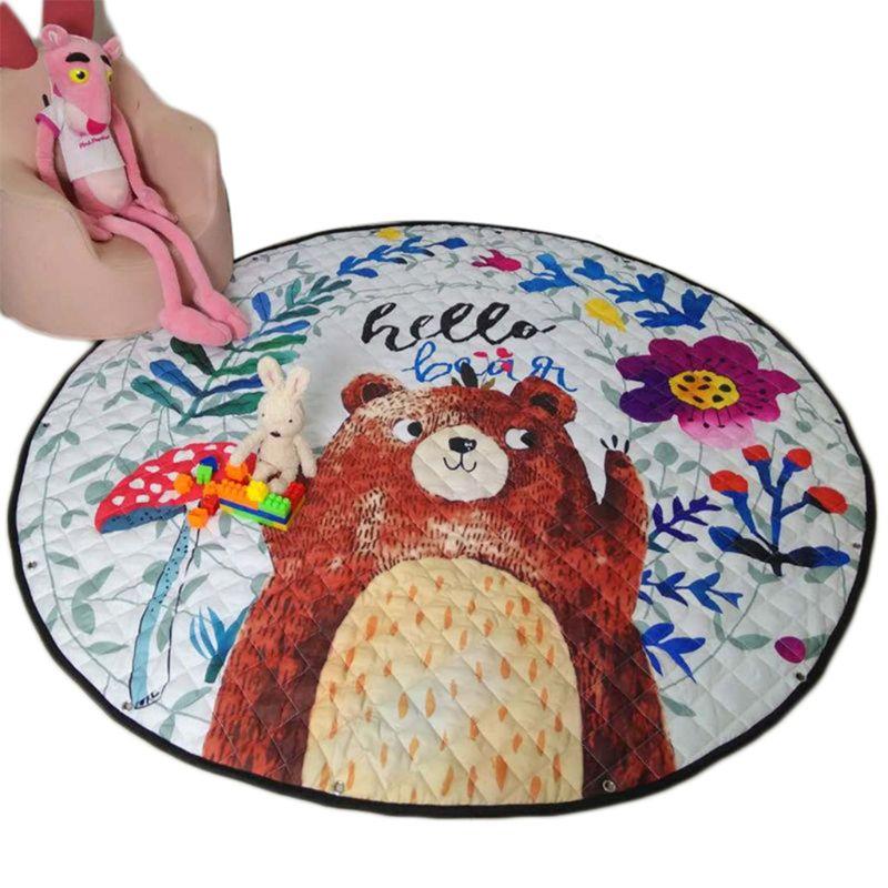 Round Cartoon Children Toy Game Storage Mat Cute Baby Crawling Pad