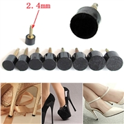 5Pcs High Heel Repair Tips Pins For Women Shoes High Heel Tips Taps Dowel Lifts Replacement Heel Stoppers Protect Resistant