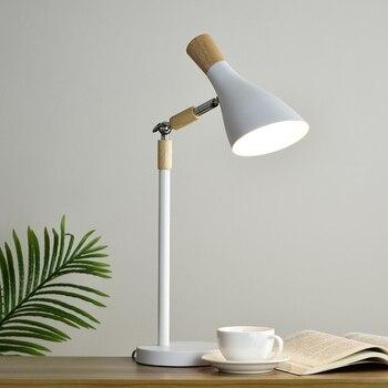 Nordic decorative log living room table lamp modern minimalist bedroom bedside lamp antlers LED study lamp