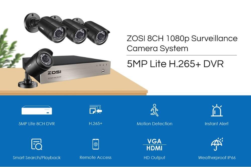 ZOSI 4 Camera CCTV System