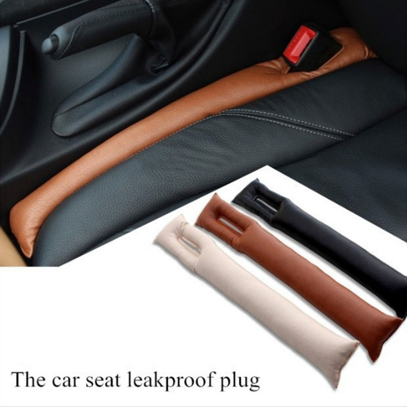 PU Leather Car Seat Gap Stopper Stop Leak Proof Drop Leakproof Pad Filler Spacer Mat Cushion Center Console Armrest Sticker