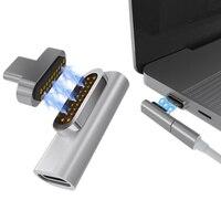 Macbook pro pixelbook nk-shopping 용 20 핀 마그네틱 usb c 어댑터 4 k 100 w 빠른 충전