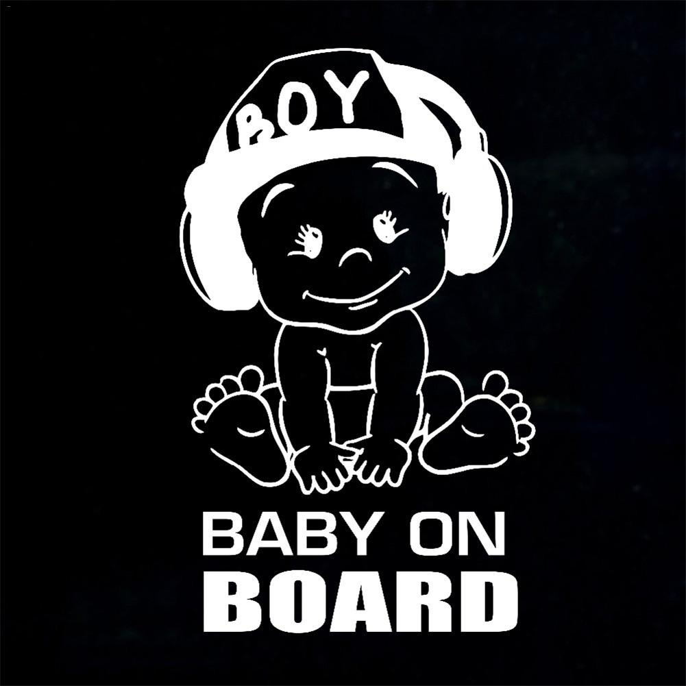 Baby on Board Baby in Car Waterproof Self Adhesive Sticker.