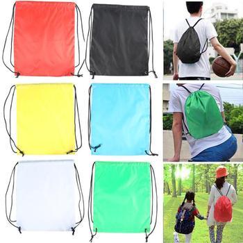 1PC Men Women Large Big Holdall Gym Bag Outdoor Sports Waterproof Drawstring Backpacks Storage Rucksack Knapsack