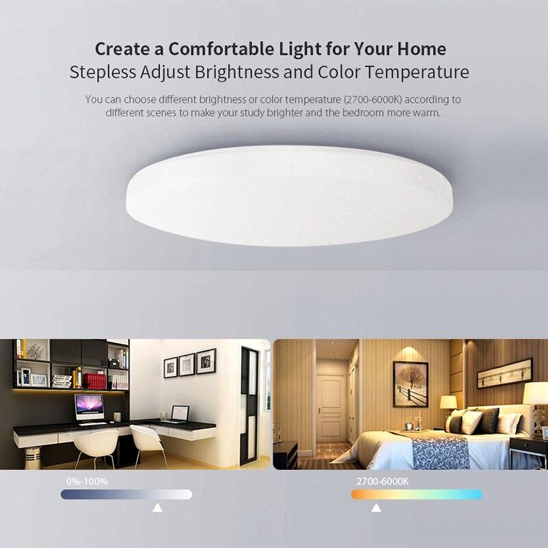 Yeelight jiaoyue 650 led inteligente luz de teto wifi bluetooth controle app com rgb lâmpada ambiente 50 w apoio alexa google casa - 2